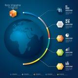 Αφηρημένη τρισδιάστατη ψηφιακή απεικόνιση Infographic. Στοκ Φωτογραφία
