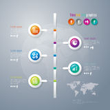 Αφηρημένη τρισδιάστατη ψηφιακή απεικόνιση Infographic. Στοκ Εικόνα
