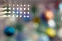 Αφηρημένη υποβρύχια σύνθεση με τις ζωηρόχρωμες σφαίρες γυαλιού Στοκ Εικόνα