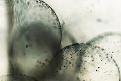 Αφηρημένη υποβρύχια σύνθεση με τις σφαίρες, τις φυσαλίδες και το φως ζελατίνας Στοκ εικόνα με δικαίωμα ελεύθερης χρήσης
