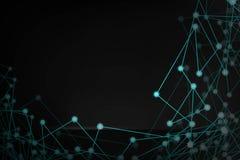 Αφηρημένη φουτουριστική μορφή παραγμένο υπολογιστής επικεφαλής καλώδιο ατόμων Τεχνολογική σύνδεση σκοτεινή διανυσματική απεικόνισ ελεύθερη απεικόνιση δικαιώματος