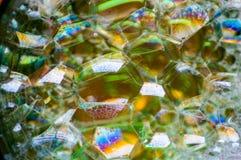 Αφηρημένη φωτογραφία που χρησιμοποιεί το μίγμα σαπουνιού και νερού Παραγωγή των φυσαλίδων Κλείστε επάνω την αφηρημένη φωτογραφία Στοκ Εικόνα