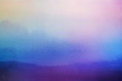 αφηρημένη φύση θαμπάδων ανασ& Επικάλυψη Watercolor στοκ εικόνα