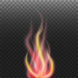 Αφηρημένη φλόγα στο διαφανές υπόβαθρο Στοκ εικόνες με δικαίωμα ελεύθερης χρήσης