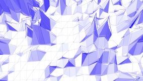 Αφηρημένη χαμηλή πολυ επιφάνεια κυματισμού ως διαστημικό περιβάλλον Ιώδες αφηρημένο γεωμετρικό δομένος περιβάλλον ή να κυμαθεί διανυσματική απεικόνιση