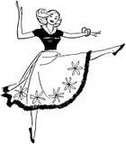 αφηρημένη χορεύοντας illustration inc γυναίκα Στοκ φωτογραφίες με δικαίωμα ελεύθερης χρήσης