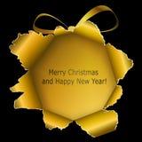 Αφηρημένη χρυσή σφαίρα Χριστουγέννων απεικόνιση αποθεμάτων