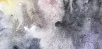 Αφηρημένη χρωματισμένη χέρι ανασκόπηση watercolor ζωηρόχρωμο πρότυπο στοκ εικόνες
