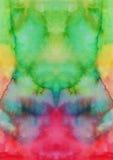 Αφηρημένη χρωματισμένη χέρι ανασκόπηση watercolor Στοκ Εικόνες