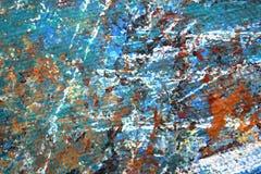 Αφηρημένη χρωματισμένη Expressionist χρωματισμένη χέρι τέχνη υποβάθρου στοκ εικόνες