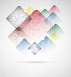 Αφηρημένη editable διανυσματική απεικόνιση κιβωτίων grunde Στοκ Εικόνα