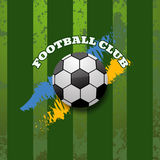 Αφηρημένη eps 10 υποβάθρου λεσχών ποδοσφαίρου απεικόνιση Στοκ Φωτογραφία