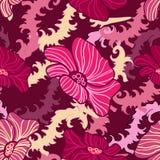 αφηρημένη floral άνευ ραφής σύστα&si ελεύθερη απεικόνιση δικαιώματος