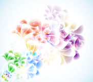 Αφηρημένη floral ανασκόπηση Στοκ Φωτογραφία