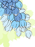 Αφηρημένη floral ανασκόπηση απεικόνιση αποθεμάτων