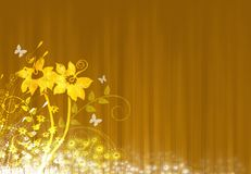 αφηρημένη floral απεικόνιση Στοκ Εικόνες