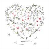 αφηρημένη floral καρδιά Στοκ εικόνες με δικαίωμα ελεύθερης χρήσης