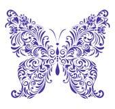 Αφηρημένη floral πεταλούδα Στοκ Εικόνα