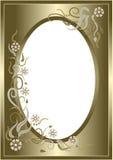αφηρημένη floral χρυσή κάρτα πλαι& Στοκ εικόνες με δικαίωμα ελεύθερης χρήσης