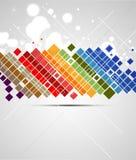 Αφηρημένη fractal μυγών χρώματος techno ανασκόπηση Στοκ Εικόνες