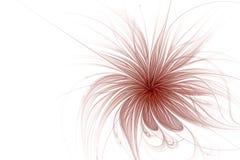 Αφηρημένη fractal παραγμένη υπολογιστής εικόνα λουλουδιών Απεικόνιση αποθεμάτων