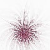 Αφηρημένη fractal παραγμένη υπολογιστής εικόνα λουλουδιών Διανυσματική απεικόνιση