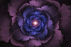 Αφηρημένη fractal παραγμένη υπολογιστής εικόνα λουλουδιών Ελεύθερη απεικόνιση δικαιώματος