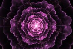 Αφηρημένη fractal παραγμένη υπολογιστής εικόνα λουλουδιών Στοκ Φωτογραφία