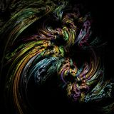 Αφηρημένη fractal φαντασία δομών χρώματος τέχνης απεικόνιση αποθεμάτων