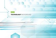 Αφηρημένη hexagons τεχνολογίας γεωμετρική ψηφιακή μπλε πλάτη έννοιας Στοκ φωτογραφίες με δικαίωμα ελεύθερης χρήσης