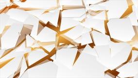 Αφηρημένη polygonal τηλεοπτική ζωτικότητα υψηλής τεχνολογίας γεωμετρίας απεικόνιση αποθεμάτων
