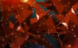 Αφηρημένη polygonal τρισδιάστατη απεικόνιση Ψηφιακή τεχνολογία του μέλλοντος στοκ φωτογραφίες με δικαίωμα ελεύθερης χρήσης