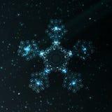 Αφηρημένη snowflake φαντασίας απεικόνιση Στοκ Φωτογραφία