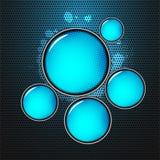 Αφηρημένοι λαμπροί μπλε κύκλοι διανυσματική απεικόνιση