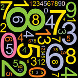 αφηρημένοι αριθμοί ανασκόπ& Στοκ φωτογραφία με δικαίωμα ελεύθερης χρήσης