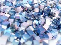 Αφηρημένοι ζωηρόχρωμοι μεταλλικοί κύβοι υποβάθρου Στοκ Εικόνα