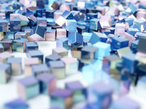 Αφηρημένοι ζωηρόχρωμοι μεταλλικοί κύβοι υποβάθρου Στοκ εικόνες με δικαίωμα ελεύθερης χρήσης