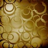 αφηρημένοι καφετιοί κύκλοι ανασκόπησης Στοκ Εικόνα