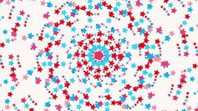 Αφηρημένοι κύκλοι των αστεριών στο λευκό διανυσματική απεικόνιση