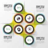 αφηρημένοι κύκλοι σύγχρονο πρότυπο σχεδίο&upsil Έννοια Infographics επίσης corel σύρετε το διάνυσμα απεικόνισης Στοκ φωτογραφίες με δικαίωμα ελεύθερης χρήσης