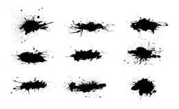 Αφηρημένοι παφλασμοί χρωμάτων που τίθενται για τη χρήση σχεδίου Σύνολο προτύπων Splatter Διάνυσμα Grunge ελεύθερη απεικόνιση δικαιώματος