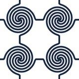 αφηρημένοι στρόβιλοι κύκλ& διανυσματική απεικόνιση