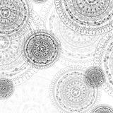 Αφηρημένοι συρμένοι χέρι κύκλοι mandala Στοκ φωτογραφία με δικαίωμα ελεύθερης χρήσης