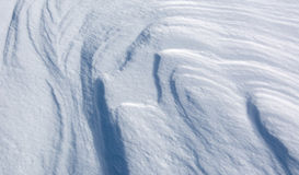 Αφηρημένοι σχηματισμοί χιονιού Στοκ Εικόνα