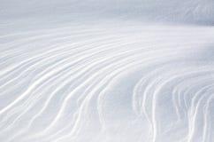 Αφηρημένοι σχηματισμοί χιονιού Στοκ Φωτογραφίες