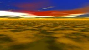 Αφηρημένοι φανταστικοί τοπίο, έδαφος και ουρανός απόθεμα βίντεο