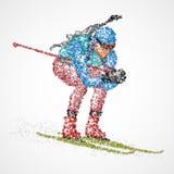 Αφηρημένος αθλητικός τύπος biathlon Στοκ εικόνα με δικαίωμα ελεύθερης χρήσης
