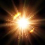 Αφηρημένος λαμπρός ήλιος ή έκρηξη ελεύθερη απεικόνιση δικαιώματος