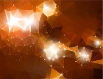 Αφηρημένος λαμπρός καφετής polygonal υποβάθρου απεικόνιση αποθεμάτων