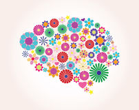 Αφηρημένος ανθρώπινος εγκέφαλος, δημιουργικός, διάνυσμα Στοκ Φωτογραφίες